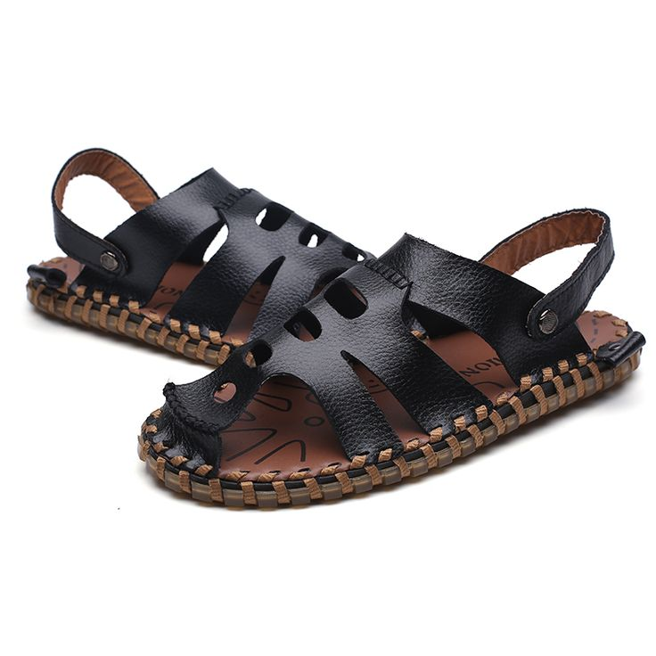 >> Click to Buy << 2017 Summer Breathable Mens Beach Shoes Flip Flops Mens Casual Slippers Fashion Men Sandals Genuine Leather Mens Dress Sandals #Affiliate