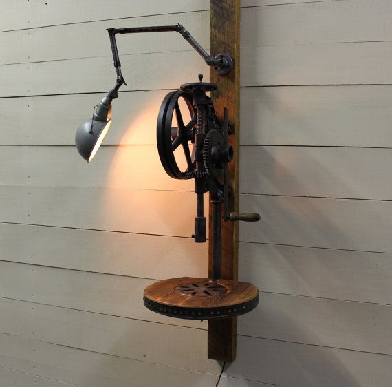 1920 S Mounted Buffalo Forge Antique Post Drill By