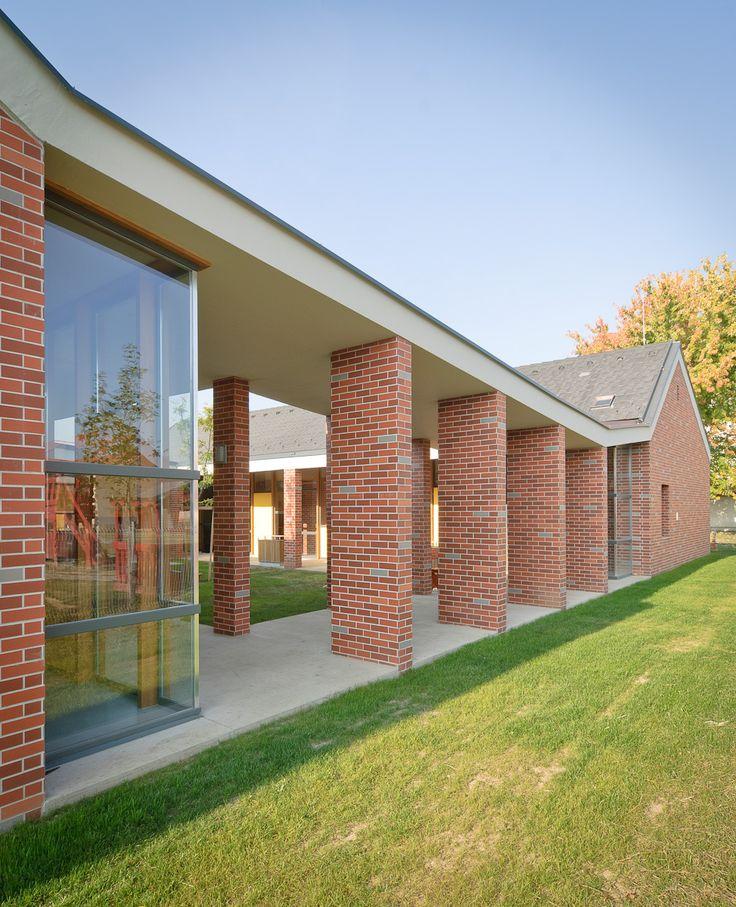 Daycare in Zsámbék by Földes Architects #foldesarchitects #daycare #nursery #hungary #architecture #brick #zsambek #bölcsöde #óvoda #építészet  #üveg #tégla