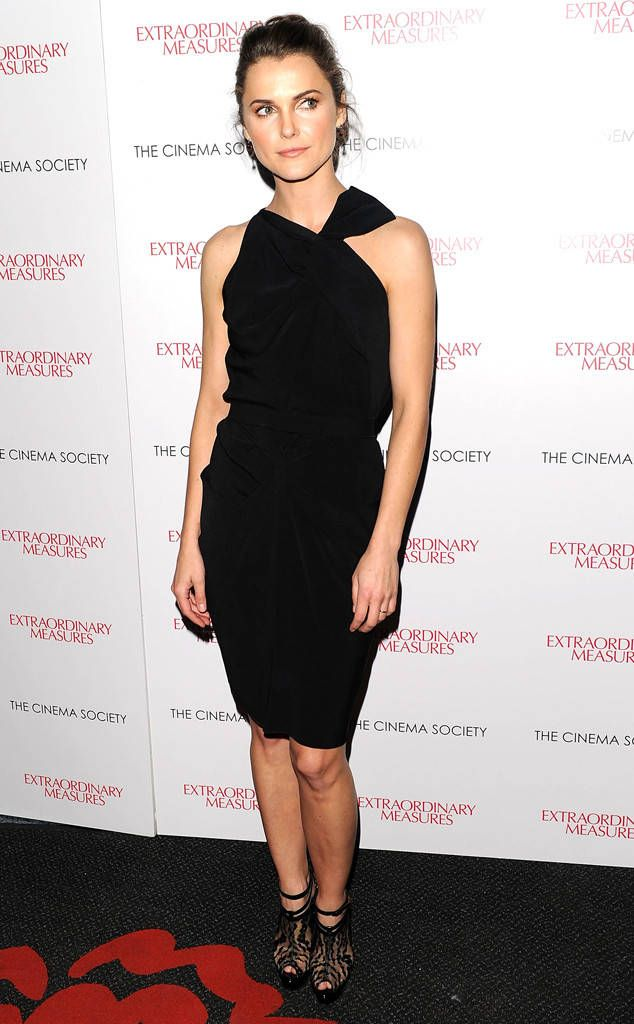 All Black Midi from Keri Russell's Best Looks  In an elegant all black asymmetrical dress at a screening of Extraordinary Measures in 2010