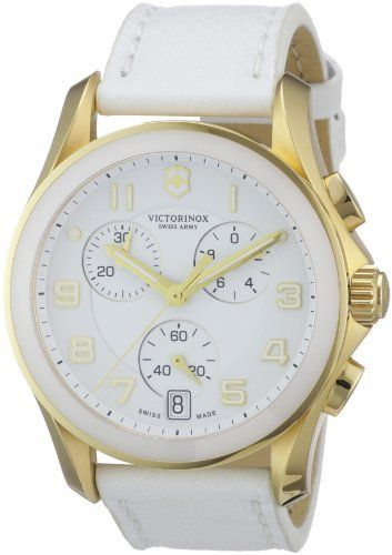 Victorinox Swiss Army Men's 241511 Chrono Classic Silver Chronograph Dial Watch Victorinox Swiss Army. Save 39 Off!. $394.99. Goldtone stainless steel case. Silver chronograph dial. White leather strap. Quartz movement. Water resistant 100 m (330 feet)