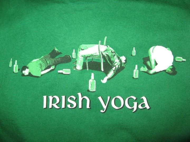 Irish yoga | St Patrick's Day | Pinterest