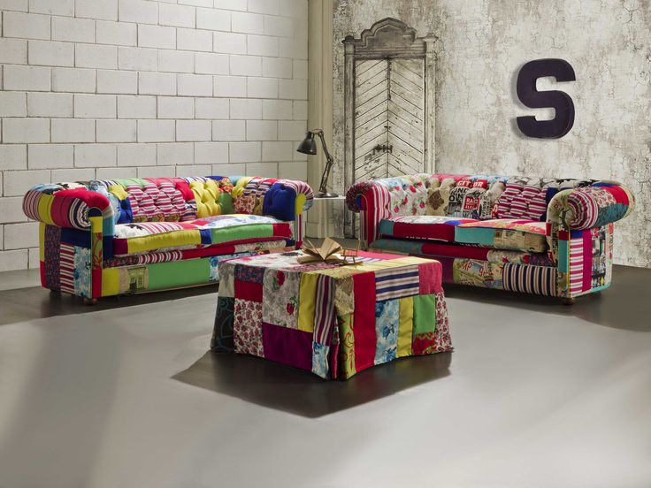 8 best chesterfield crazy divani chester in tessuto patchwork images on pinterest jelly - Divano letto chester ...