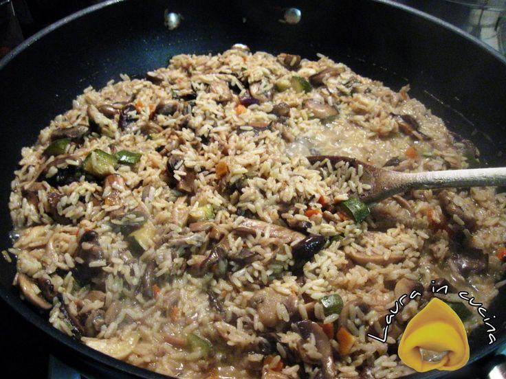 Risotto ai funghi freschi ,ricetta primi piatti