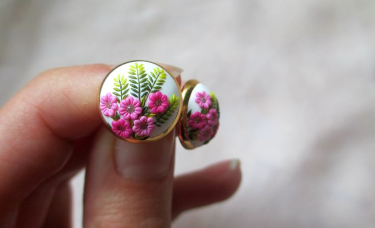 Gentle Spring in Autumn Handmade Clay Pink by StoriesMadeByHands