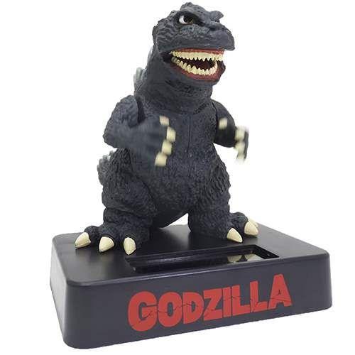 Cinemacollection | Rakuten Global Market: Godzilla toy swinging solar mascot forecart 10 x 11.7 x 14 cm thin Godzilla anime manga cinema collection
