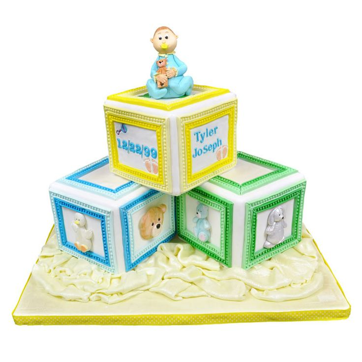 Baby Block Cake Images : 35 best images about Baby/christening cake ideas on ...