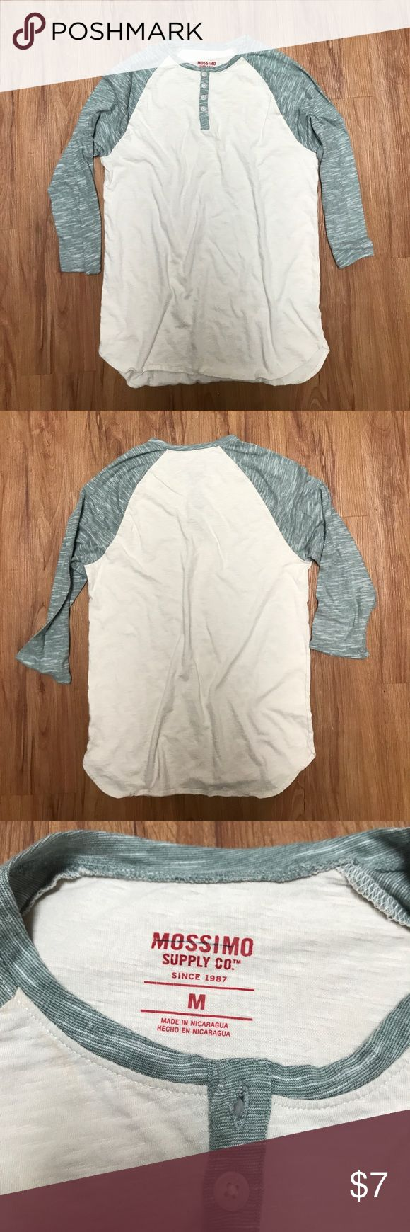 Mossimo Supply Co 3/4 Sleeve Tee Used in good condition. Mossimo Supply Co. Shirts Tees - Long Sleeve