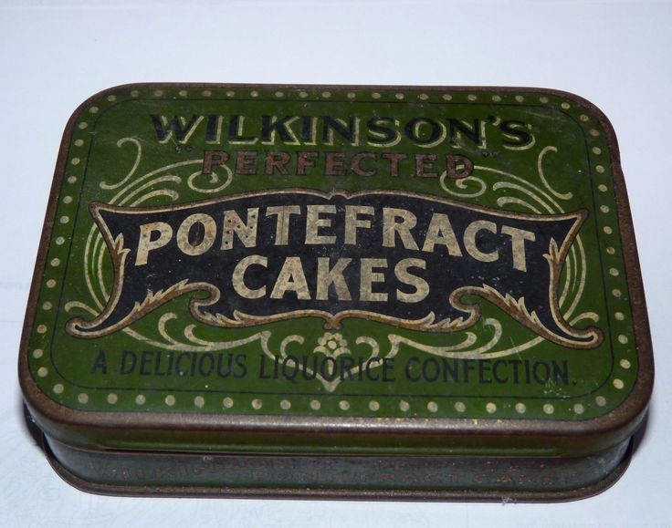Vintage Wilkinson's Pontefract Cakes/Sweets Tin, Old, Genuine | eBay