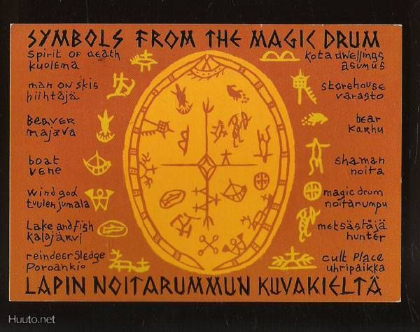 ●●●~~~~~     Finland sami people:  finnish Sami Magic Drum symbols  ~~~~~●●●