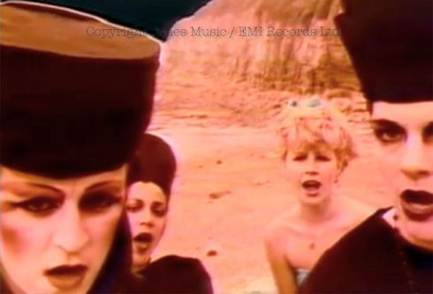 "Blitz kids in David Bowie video "" Ashes to Ashes"" 1980"