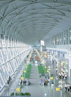 Kansai International Airport Terminal in Osaka,Japan by Renzo Piano