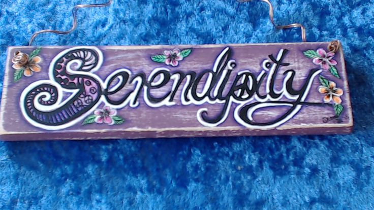 """""""SERENDIPITY"""" my favourite word..$12 available in my Etsy shop www.etsy.com/shop/pohcreations"""