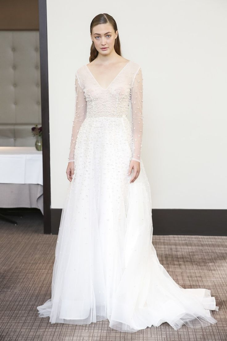 Great Gracy Accad Fall Gracy Accad Pearl Wedding Dress