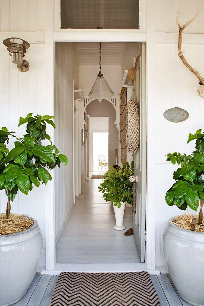 White floorboards, white walls. Queenslander style