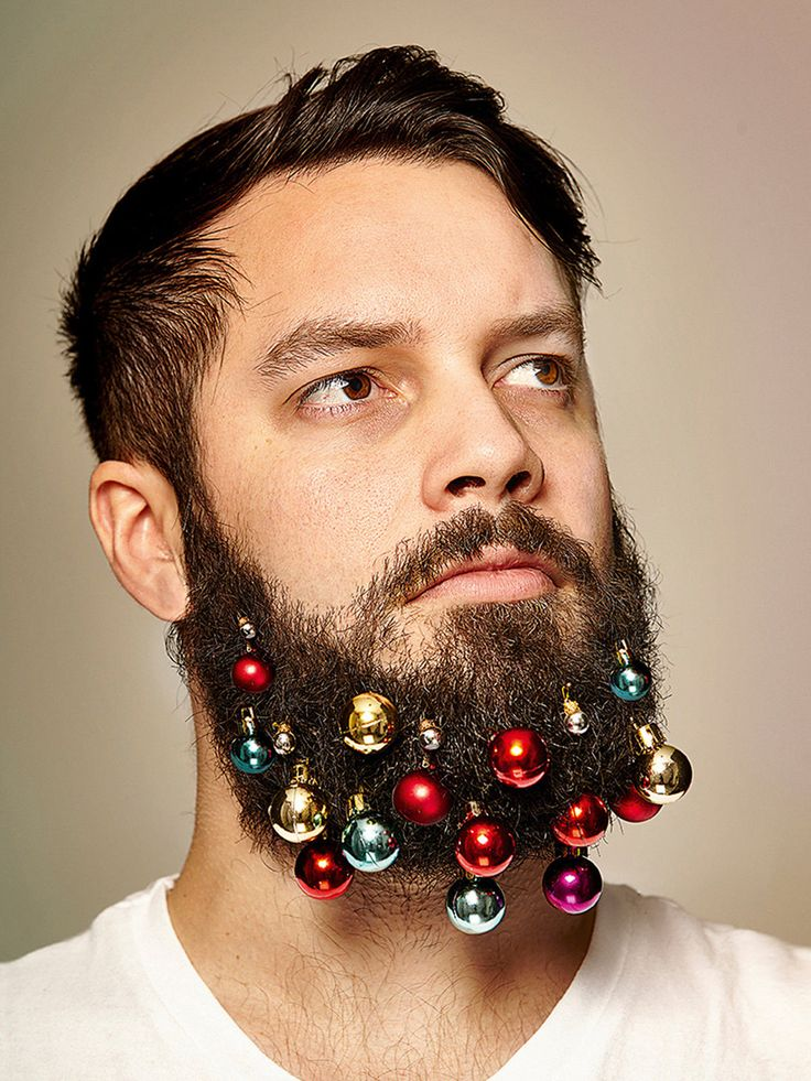 turn your facial scruff into a festive tree with beard baubles