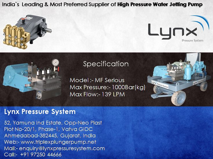We have successfully dispatched 770 BAR 72 LPM High Pressure Pumps for Sugar Plant Heat Exchanger Tube Cleaning Application use to our new reputed client.   http://www.triplexplungerpumps.net/high-pressure-water-jetting-pump.html  Model No: MF-26 , Flow Rate: 72 LPM, Pressure: 770 BAR, Elect. Motor: 150HP  #High_Pressure_water_jetting_pump , #High_pressure_Hydro_jetting_pump , #High_pressure_triplex_plunger_pump , #Hydro_jetting_machine , #triplex_water_jetting_pump…