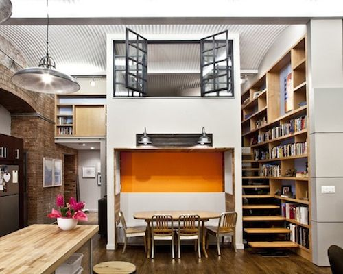 Such a fun #loft #design!  How cool is that #window overlooking the first floor?