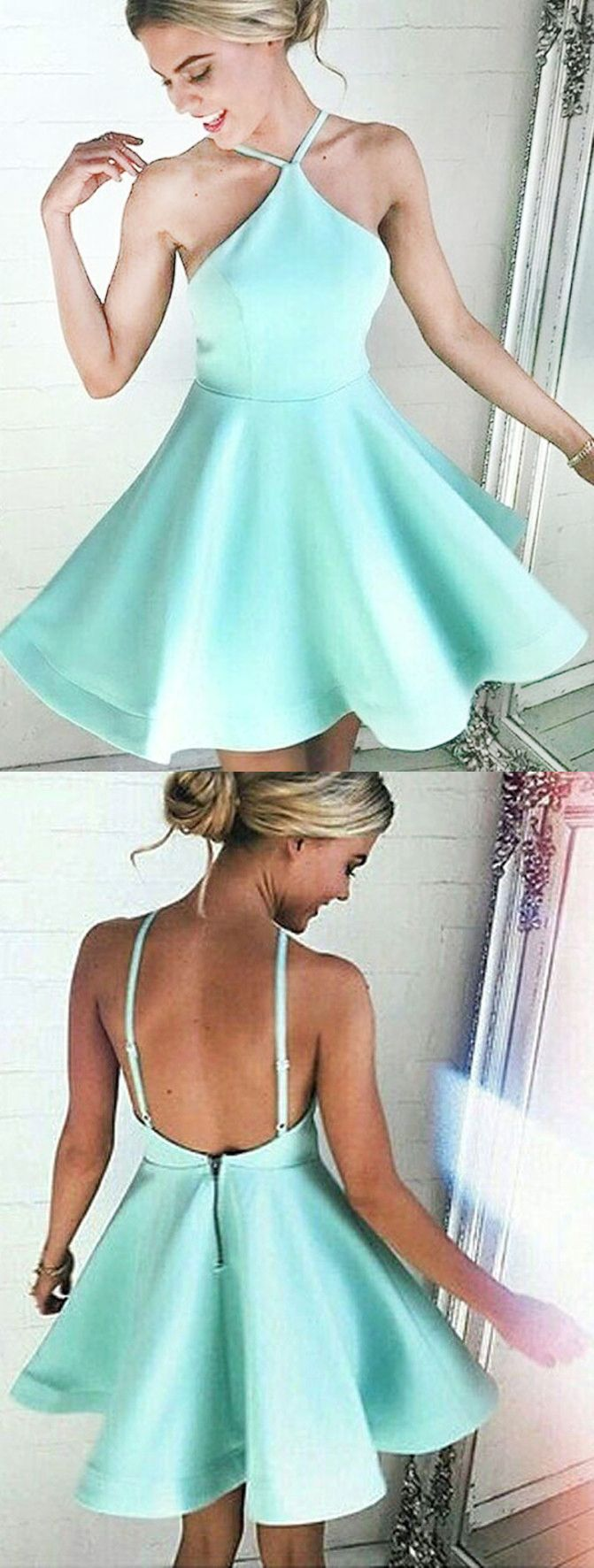 halter homecoming dresses, mint homecoming dresses, backless homecoming dresses, short homecoming dresses, homecoming dresses with ruched