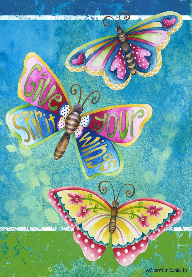 Give Your Spirit Wings. Jennifer Lambein