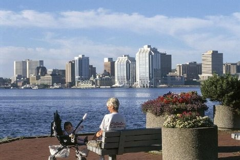 View of Halifax from Dartmouth, NS Next time I will have to tourist less and see more. I have sat here many times!