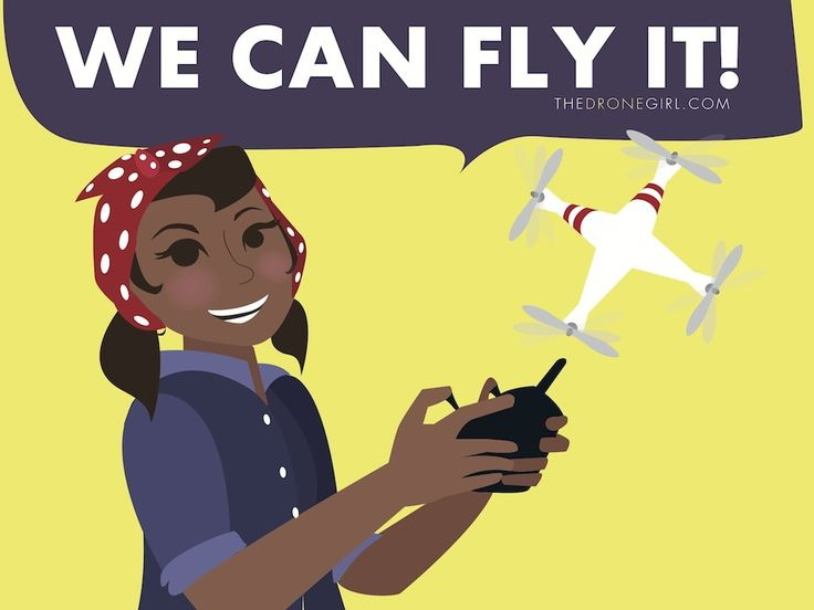 """Free Drone Girl themed desktop backgrounds including """"Quad Squad"""" """"I Fly Like A Girl"""" and more!"""