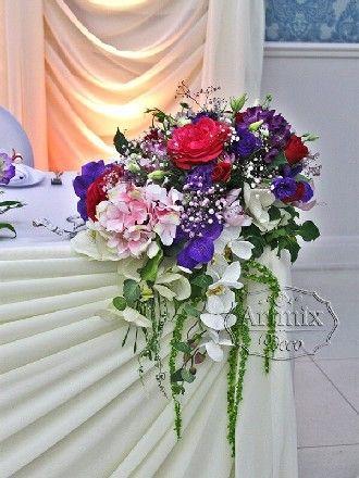 Украшение ресторана на свадьбу | Бордовое оформление на свадебное торжество