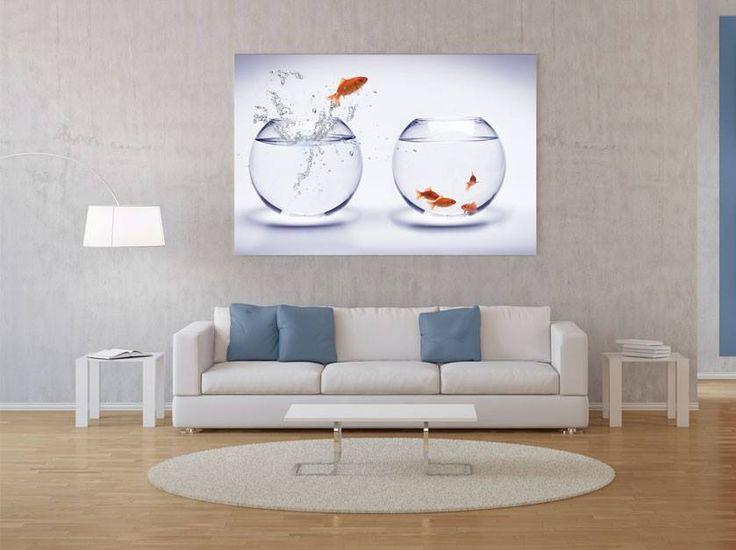 I dla miłośników złotych rybek #homedecor #fototapeta #obraz #aranżacjawnętrz #wystrójwnętrz, #decor #desing