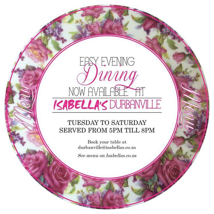 Durbanville #Isabella's #EasyDining #DinnerIsServed