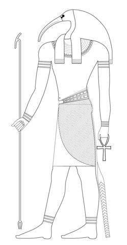 Thoth Coloring page Ancient Egypt coloring pages