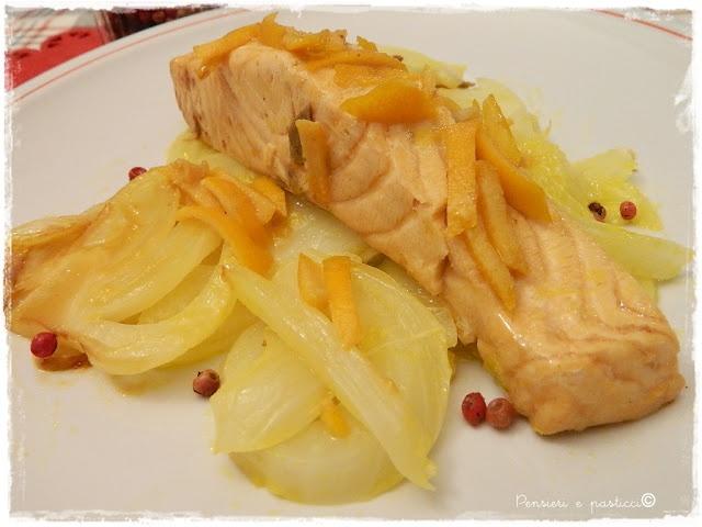 pensieri e pasticci: Salmone e finocchi all'arancia di Csaba