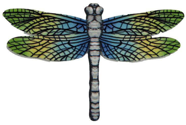 3 Inch Dragonfly Metal Screen Door Saver 2 Piece Magnet Set