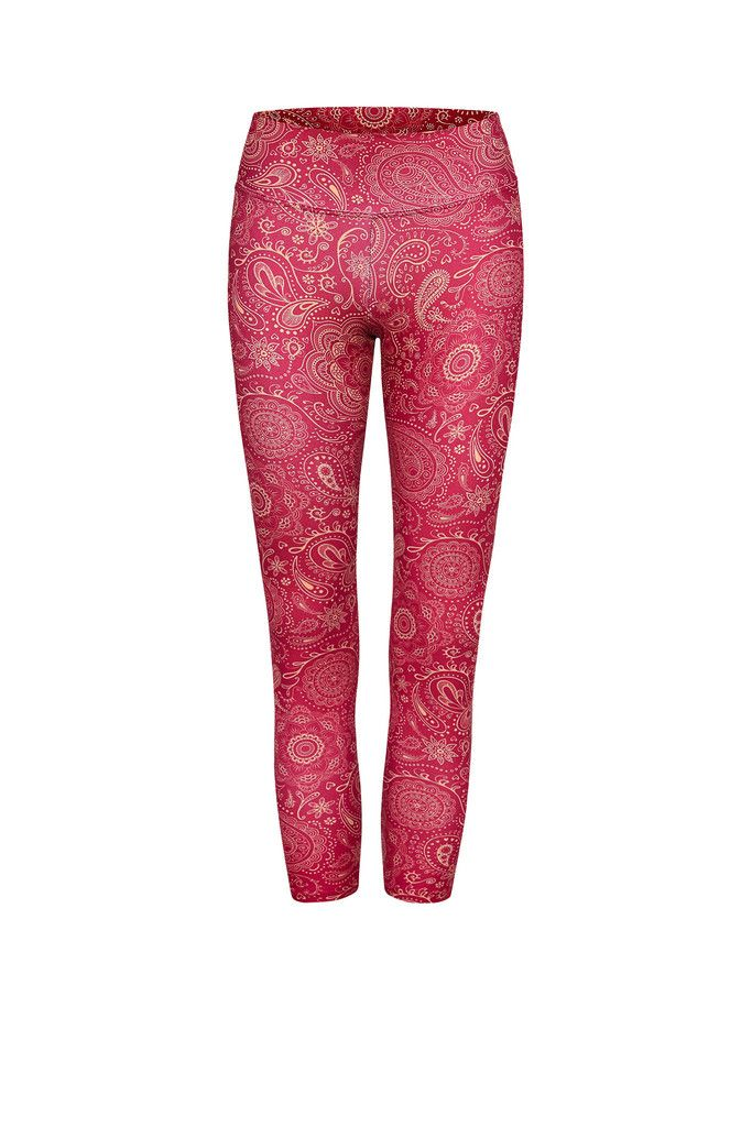 Raspberry Paisley Higher Waisted Printed Yoga Legging - 3/4 – Dharma Bums Yoga and Activewear << up to AU18-20