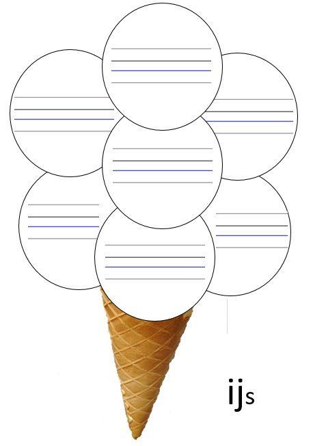 Kern 3: IJ woorden schrijven in het ijsje