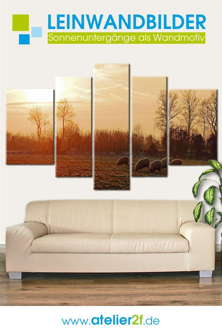 landschaften mehrteilige leinwand wandbilder sonnenuntergang fur wandgestaltung homedesign tapeten kaufen fotoleinwand foto auf xxl günstig express druck