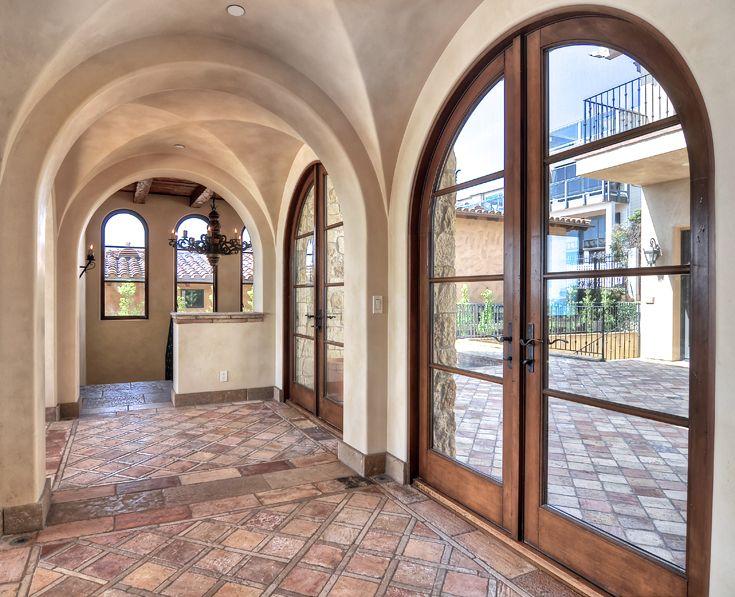 Arched Hallway Mediterranean Tuscan European