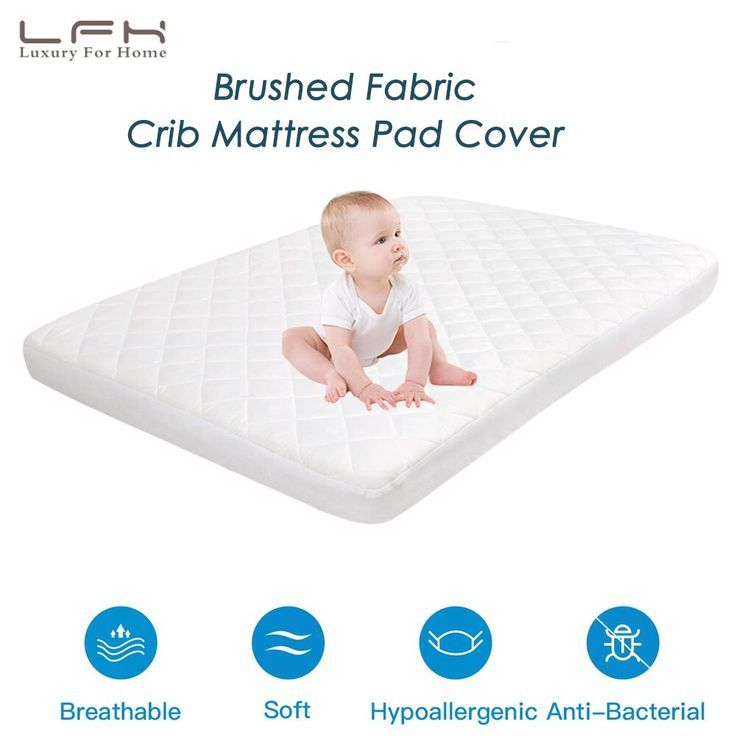 Lfh Baby Crib Mattress Topper Cover For Toddlers Bed Protector 72x132cm Waterpro Mattress Pad Cover Crib Mattress Waterproof Mattress Pad