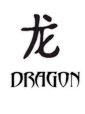 Tattoo of Chinese Letters Kanji Word Dragon