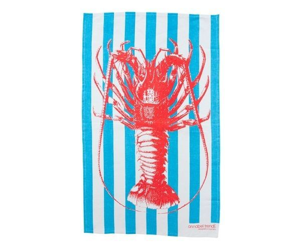 Crayfish Lobster Super Absorbent Linen Tea Towel