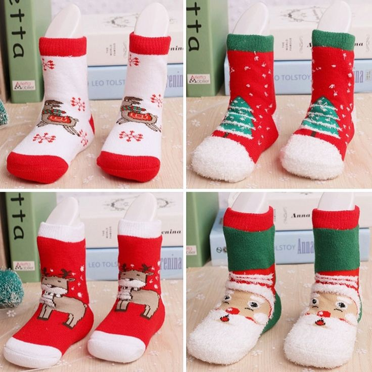 Toddler Kids Baby Boy Girl Unisex Christmas Gift Santa Claus Deer Warm Slipper Cartoon Thick Terry Socks 0-6Y #clothing,#shoes,#jewelry,#women,#men,#hats,#watches,#belts,#fashion,#style