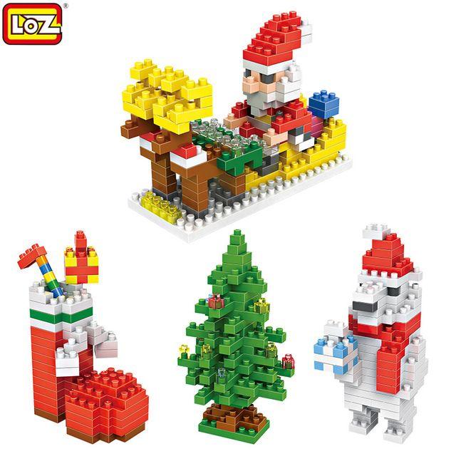 LOZ Рождественские подарки Санта-Клаус Строительные Блоки Игрушки для Детей Рождественские Украшения для Дома День Рождения Рождество рождественские Подарки