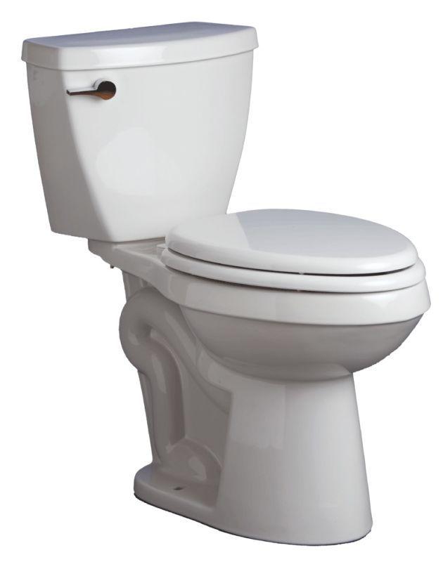Mirabelle MIRBD250EC/MIRBD200 Bradenton Two-Piece Elongated ADA Height  Toilet wi White Fixture Toilet