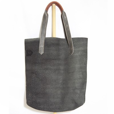 Black Leather Shopper - New Kid