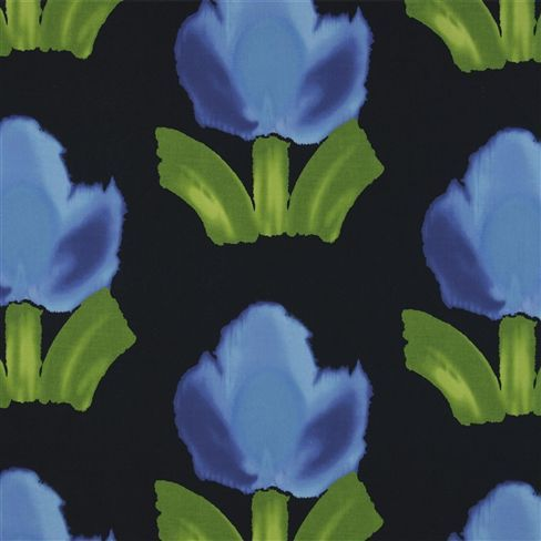 Howard Hodgkin Large Flowers Indigo