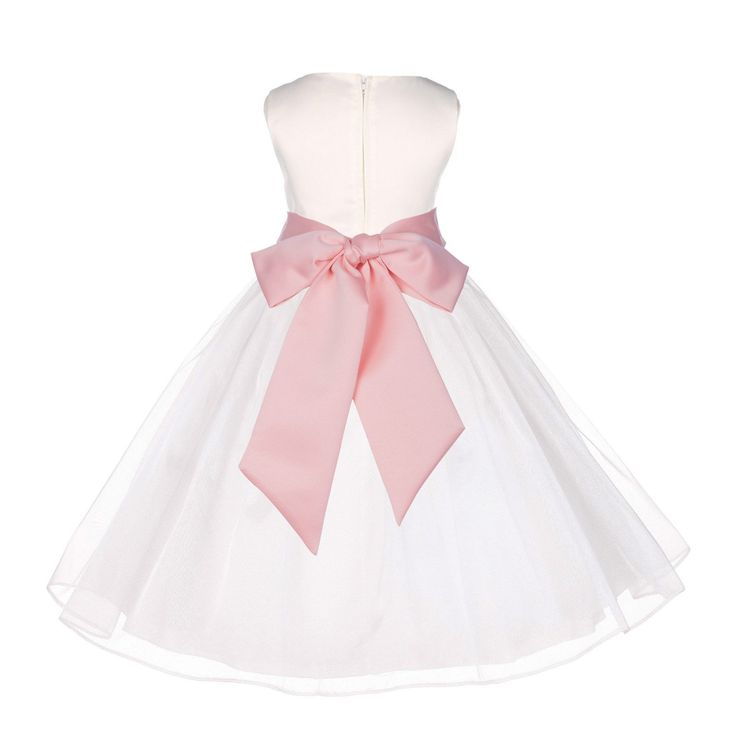 Photo of Ivory Organza Flower Girl Dress Receptions Wedding Bridal Beauty Pageant Special Occasions 841S2 – Products