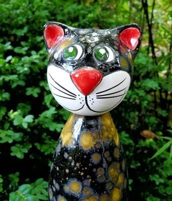 7 best images about katzen keramik on pinterest - Keramik katzen fur garten ...
