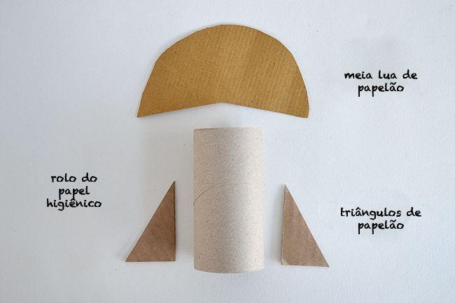 Passo-a-passo de como fazer um foguete com rolo de papel higiênico