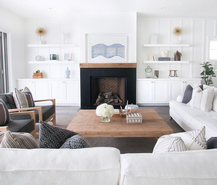 Las 25 mejores ideas sobre repisas para chimenea en - Salones modernos con chimenea ...