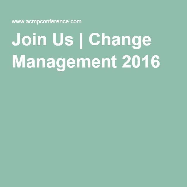 Join Us | Change Management 2016