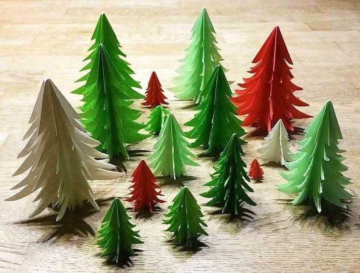 3d tannenbaum aus papier selber basteln kusudam k. Black Bedroom Furniture Sets. Home Design Ideas